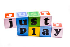 Just Play. Colorful spelling blocks with Just Play Stock Images