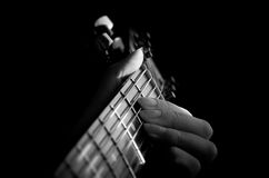 Just play the music. Creating wonderful music on the guitar Royalty Free Stock Images