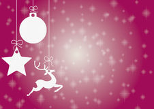 Just Purple Christmas Card. Christmas card with star, bauble and rentier Royalty Free Stock Photos