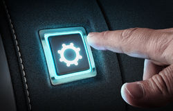 Just push the button . Mixed media Royalty Free Stock Photo
