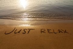 Just relax Royalty Free Stock Image