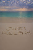 Just Relax sign Royalty Free Stock Photography