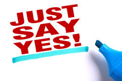 Just say yes Royalty Free Stock Photo