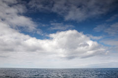 Just the sea and clouds Royalty Free Stock Image