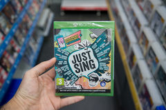 Just Sing videogame on XBOX One Royalty Free Stock Image