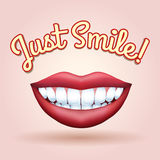 Just Smile Royalty Free Stock Photography