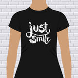 Just Smile t-shirt design Royalty Free Stock Photo