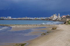 Just before the storm in Cadiz Stock Photography