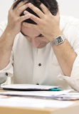 Just in stress. Stressed businessman Stock Photography