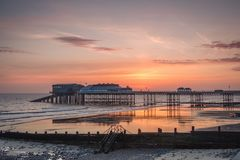 A New Day at Cromer Pier royalty free stock photography
