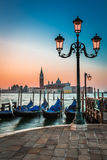 Just before sunrise in Venice Stock Images