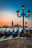 Just before sunrise in Venice Stock Image
