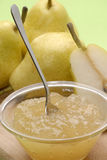 Just sweet pear. Pear preserve,pear conserve and pears Royalty Free Stock Images