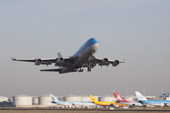 Just tak from the runway boeing. Stock Images