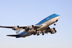 Just take off boeing 747 Royalty Free Stock Photos