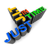Just in time royalty free illustration