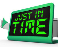 Just in Time Clock Means Not Too Late Royalty Free Stock Photography