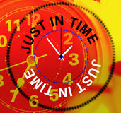 Just In Time Represents At Last And Clock Royalty Free Stock Photos