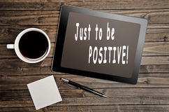 Just to be positive! Royalty Free Stock Image