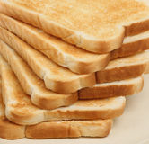 Just Toast. Six slices of toasted white bread Royalty Free Stock Photography