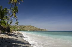 Just a typical view from the beach on Lombok isle Royalty Free Stock Photography