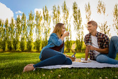 Just us and a picnic Royalty Free Stock Image