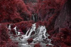 Red Waterfall stock images