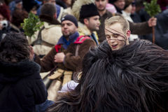 "Just a Young Mummer. Picture from The Annual ""Surva"" Carnival, Pernik, Bulgaria Royalty Free Stock Photos"