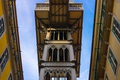 Justa Lisboa de santa del elevador fotografía de archivo