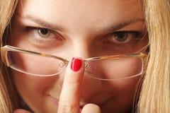 Justage der Brillen Lizenzfreies Stockfoto