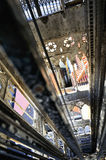 Justalift van de kerstman in Lissabon Stock Foto's