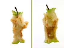 Juste Apple mangé - 2 vues Photos stock