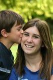 Juste baiser Image libre de droits
