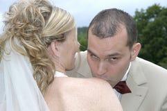 Juste baiser Images libres de droits