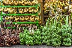 Juste bananes Un magasin vendant seulement des bananes Photos libres de droits