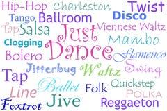 Juste collage de danse illustration stock