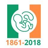 Juste d'avortement en république d'Irlande 25 mai 2018 illustration de vecteur