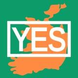 Juste d'avortement en république d'Irlande 25 mai 2018 illustration libre de droits