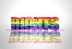 Juste de Word avec le drapeau d'homosexuel d'arc-en-ciel Image stock