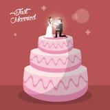 juste dessert marié de gâteau Photo stock