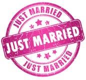 Juste estampille mariée Image libre de droits