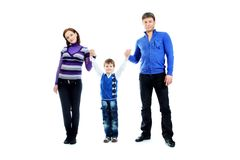 Juste famille Images libres de droits