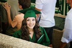 Juste fille graduée Image libre de droits