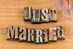 Juste impression typographique d'amour de relations de ménages mariés Images libres de droits