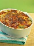 Juste lasagne cuit au four Image stock