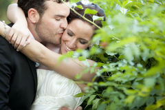 Juste ménages mariés Photo stock