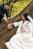 Juste ménages mariés photographie stock