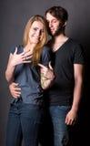 Juste ménages mariés heureux Images libres de droits