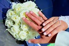Juste mains mariées Photos libres de droits
