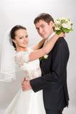 Juste marié. images libres de droits
